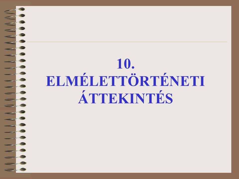 10. ELMÉLETTÖRTÉNETI ÁTTEKINTÉS