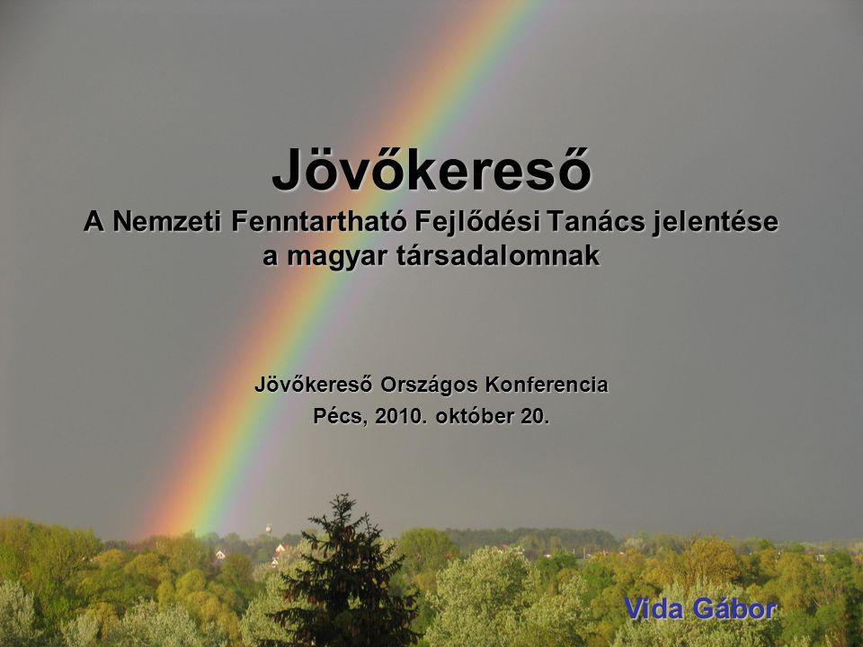 Jövőkereső A Nemzeti Fenntartható Fejlődési Tanács jelentése a magyar társadalomnak Jövőkereső Országos Konferencia Pécs, 2010.