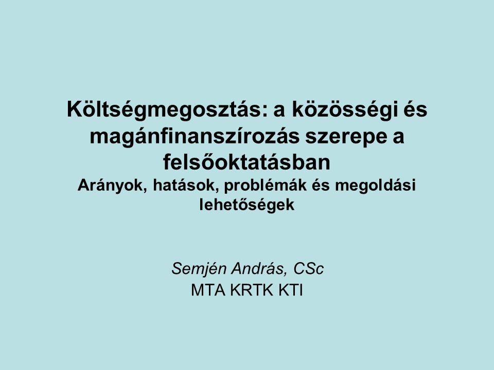 A kötet Köszönet: •OTKA T-048983: Felsőoktatás- finanszírozási modellek és eszközök az expanzió, a minőség, a széleskörű hozzáférhetőség és esélyegyenlőség szolgálatában – nemzetközi helyzetkép és hazai tapasztalatok •Patkós Anna szerkesztő •KTI könyvek, Laki Mihály