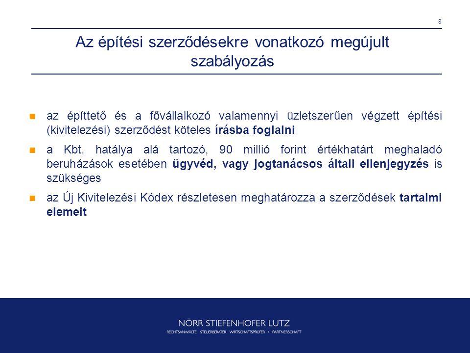 29 Az elektronikus alvállalkozói nyilvántartás (1)  az adott beruházás elkülönített alvállalkozói nyilvántartásának internet alapú működtetését az építtetői fedezetkezelő köteles biztosítani, valamint elektronikusan rögzíteni az építési szerződés adatait  a Magyar Államkincstár kezelésében működő internetes felületet - http://e-fedkez.allamkincstar.gov.hu - 2010.