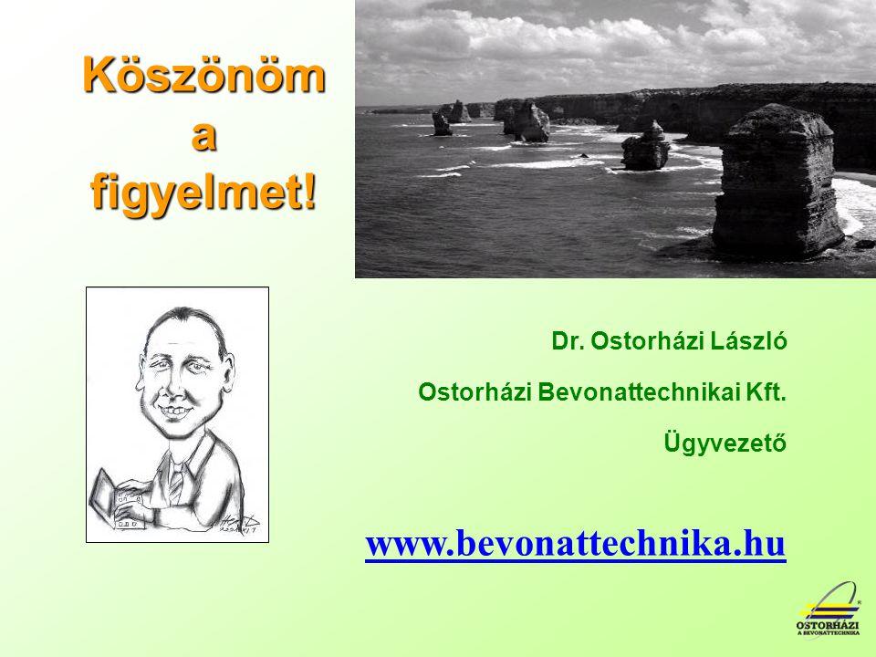 Köszönöm a figyelmet.Dr. Ostorházi László Ostorházi Bevonattechnikai Kft.
