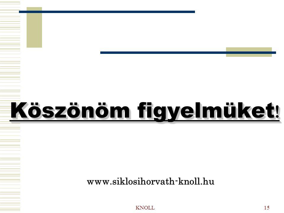 KNOLL15 Köszönöm figyelmüket ! www.siklosihorvath-knoll.hu