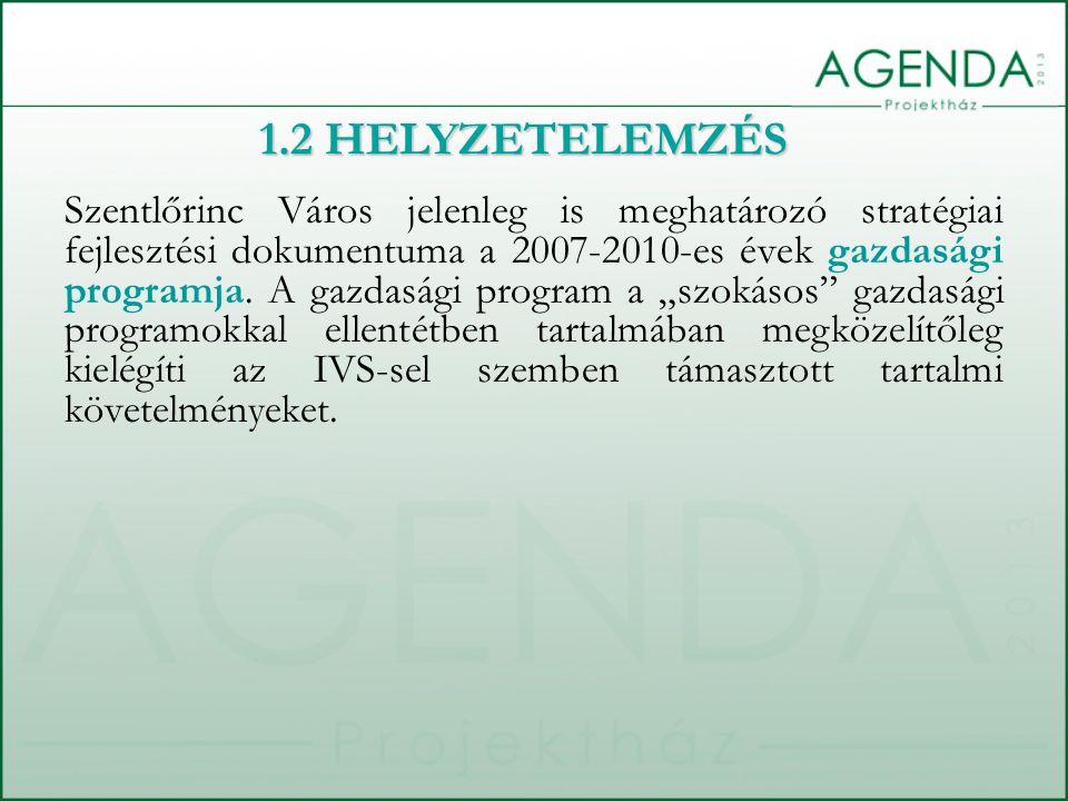"""Szentlőrinc Város jelenleg is meghatározó stratégiai fejlesztési dokumentuma a 2007-2010-es évek gazdasági programja. A gazdasági program a """"szokásos"""""""