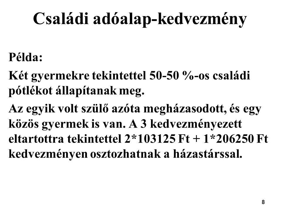 29 Egyéb változások Éttermi szolgáltatás igénybevételekor (Céges ?) bankkártyával történő fizetés esetén a kapott nyugta alapján elszámolt költség tao szerint elismert, feltéve, hogy Szja szerint reprezentációként számolják el Kisvállalkozói kedvezmény: Adóalap-kedvezmény érvényesíthető a szoftverek vásárolt felhasználási jogára is tekintettel KIVA-s, KATA-s visszatérésre társasági adóba: mindkét körnek kell előlegbevallást adni (eddig csak a kivá-ból visszatérőnek kellett)