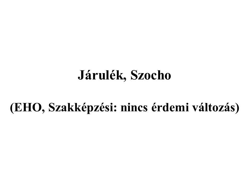 Járulék, Szocho (EHO, Szakképzési: nincs érdemi változás)