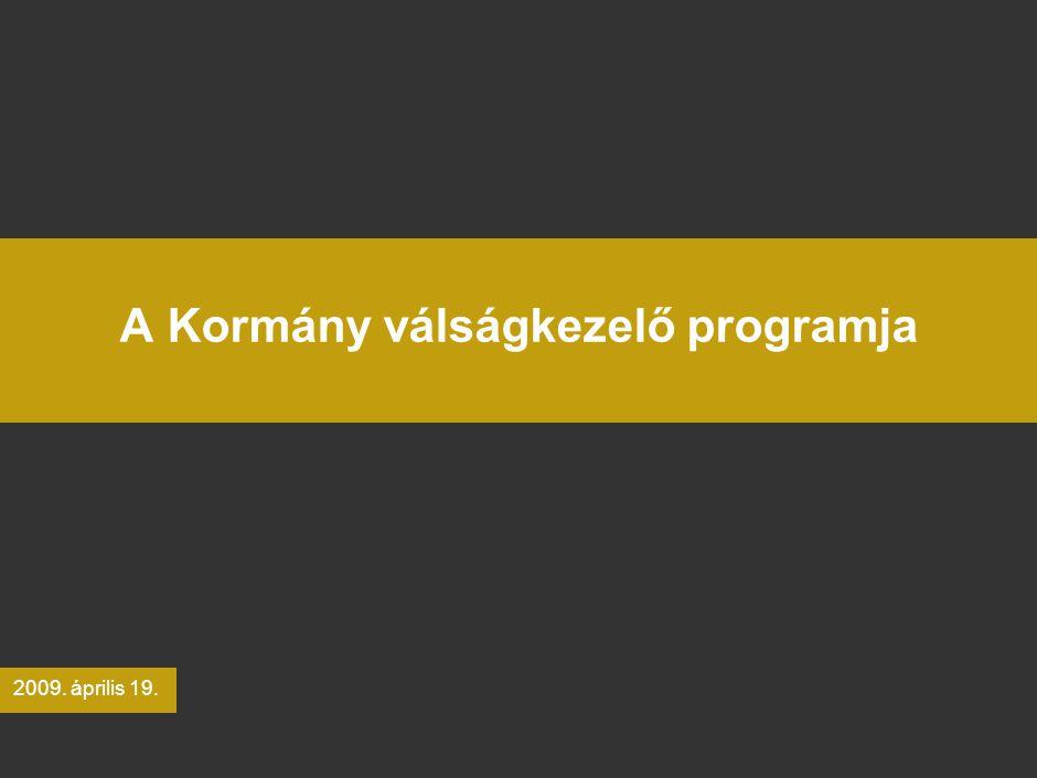 A Kormány válságkezelő programja 2009. április 19.