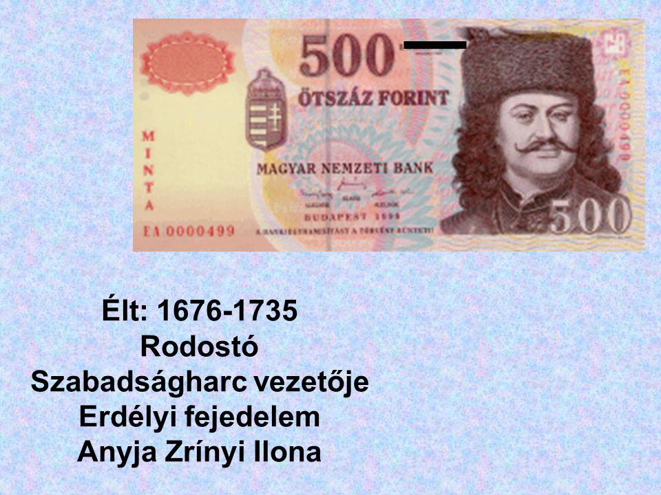 Élt: 1676-1735 Rodostó Szabadságharc vezetője Erdélyi fejedelem Anyja Zrínyi Ilona