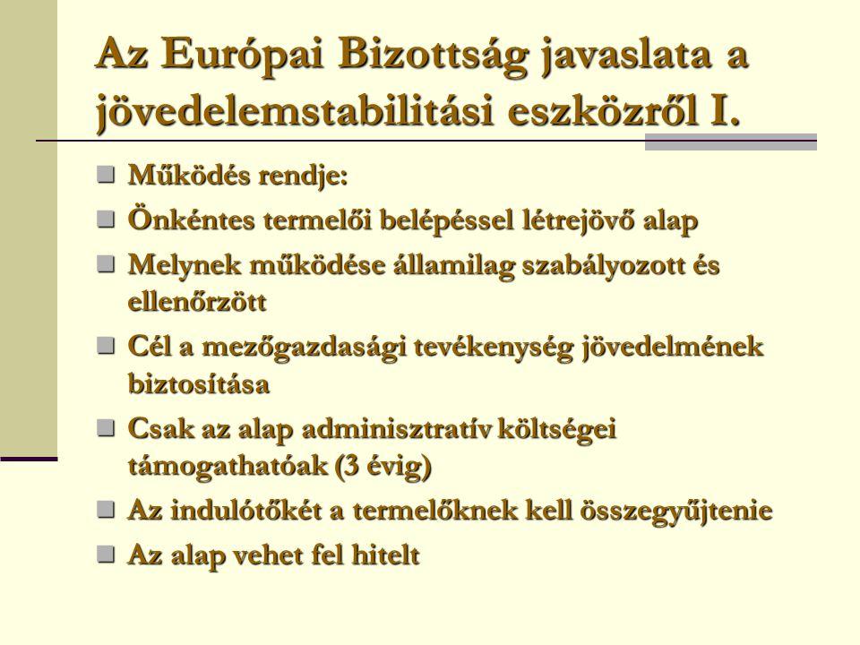 Az Európai Bizottság javaslata a jövedelemstabilitási eszközről I.