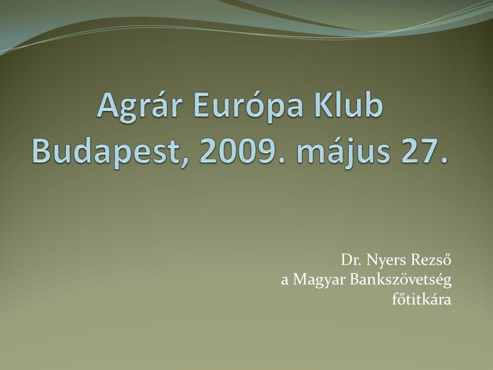 Dr. Nyers Rezső a Magyar Bankszövetség főtitkára