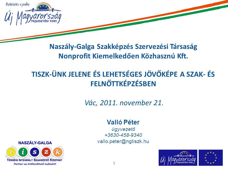 Naszály-Galga Szakképzés Szervezési Társaság Nonprofit Kiemelkedően Közhasznú Kft.