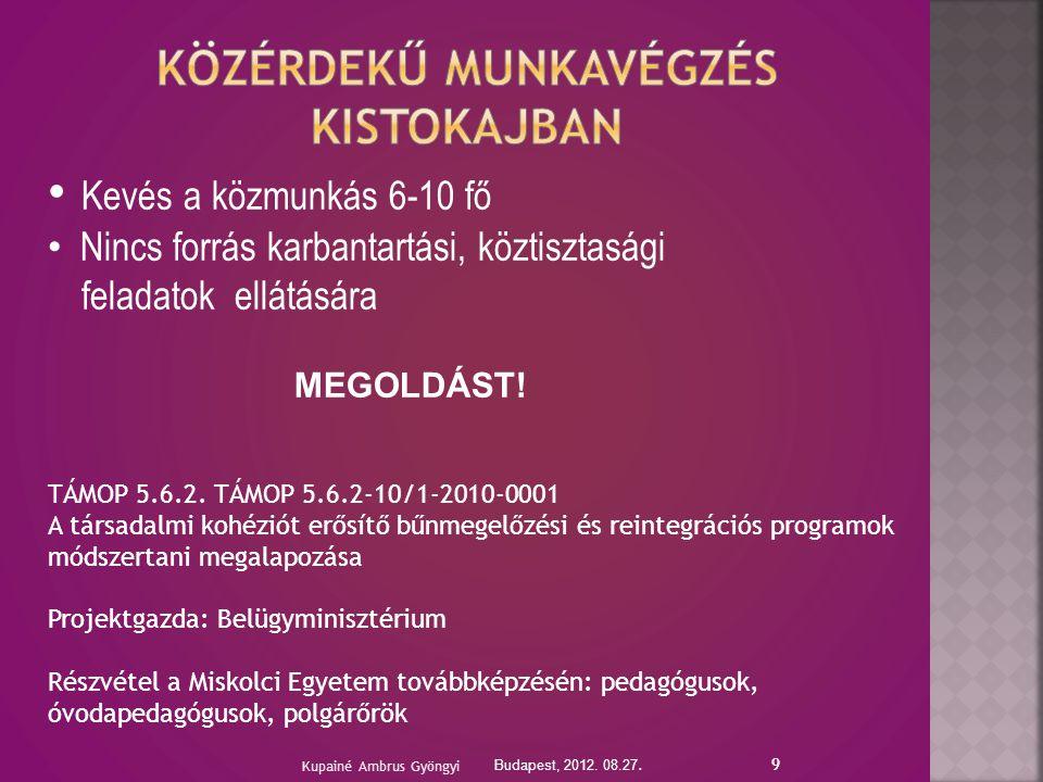 9 Budapest, 2012. 08.27.