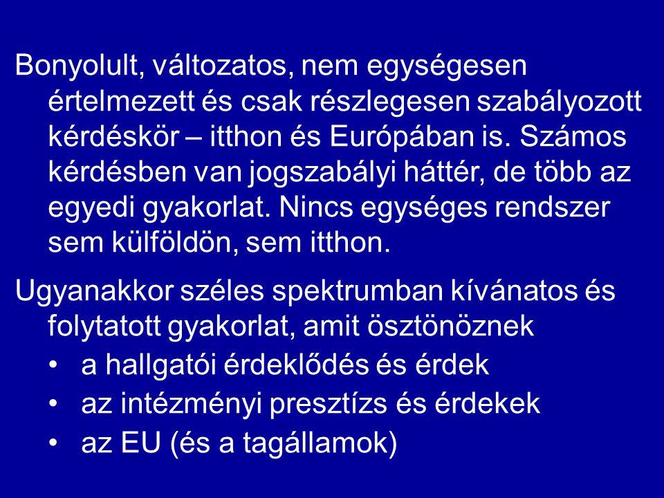 Bonyolult, változatos, nem egységesen értelmezett és csak részlegesen szabályozott kérdéskör – itthon és Európában is. Számos kérdésben van jogszabály