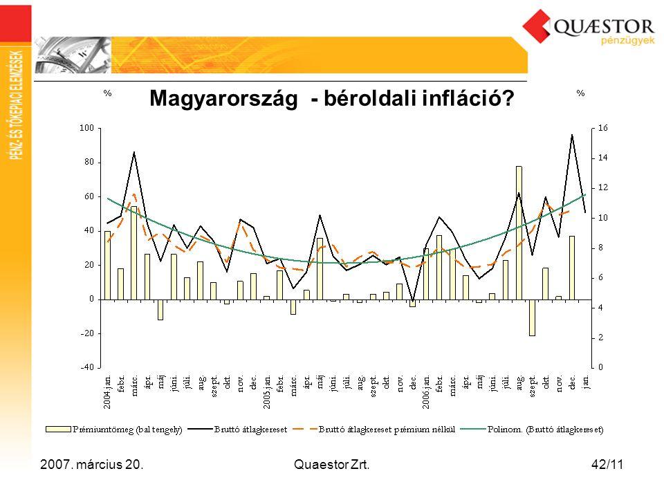 2007. március 20.Quaestor Zrt.42/11 Magyarország - béroldali infláció?