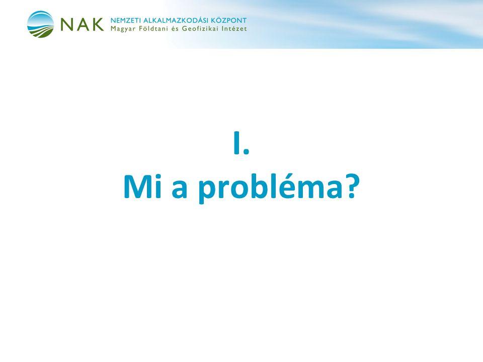 I. Mi a probléma?