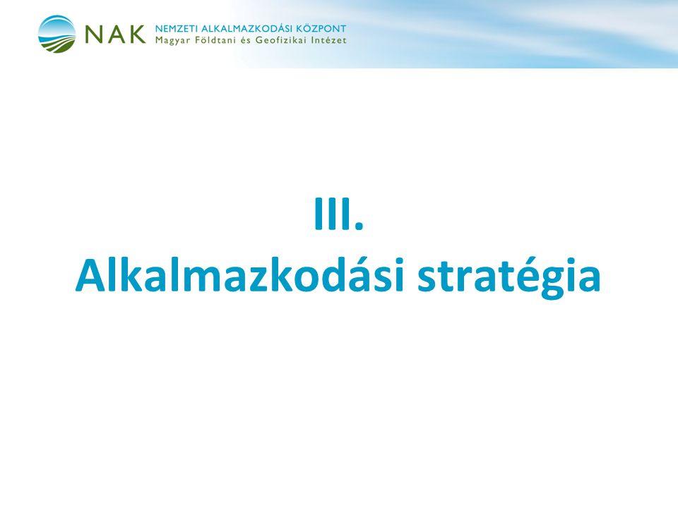 III. Alkalmazkodási stratégia