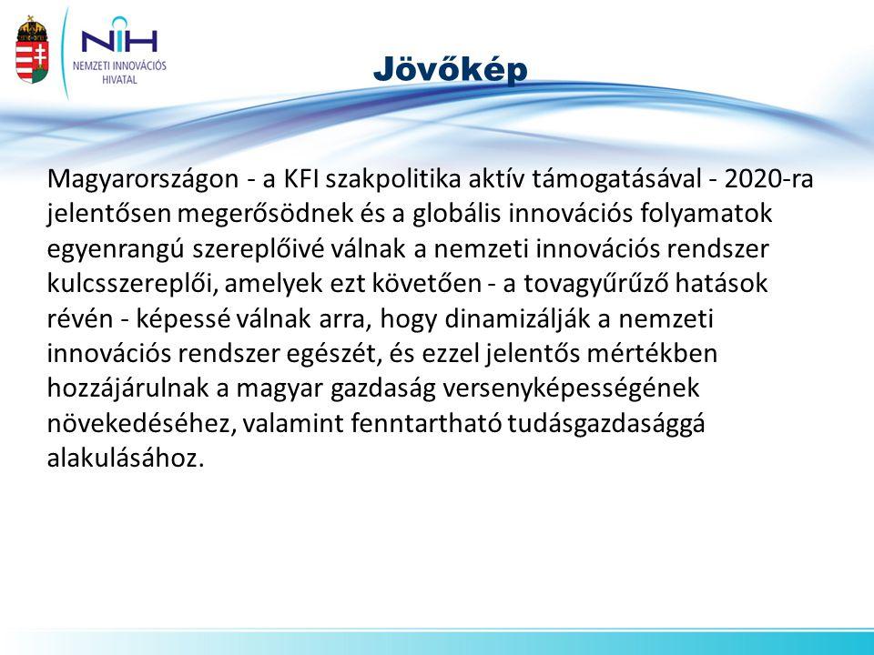 Magyarországon - a KFI szakpolitika aktív támogatásával - 2020-ra jelentősen megerősödnek és a globális innovációs folyamatok egyenrangú szereplőivé válnak a nemzeti innovációs rendszer kulcsszereplői, amelyek ezt követően - a tovagyűrűző hatások révén - képessé válnak arra, hogy dinamizálják a nemzeti innovációs rendszer egészét, és ezzel jelentős mértékben hozzájárulnak a magyar gazdaság versenyképességének növekedéséhez, valamint fenntartható tudásgazdasággá alakulásához.