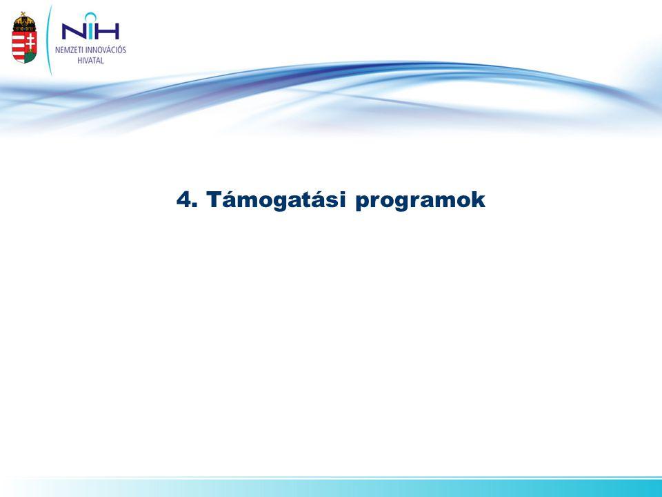 4. Támogatási programok