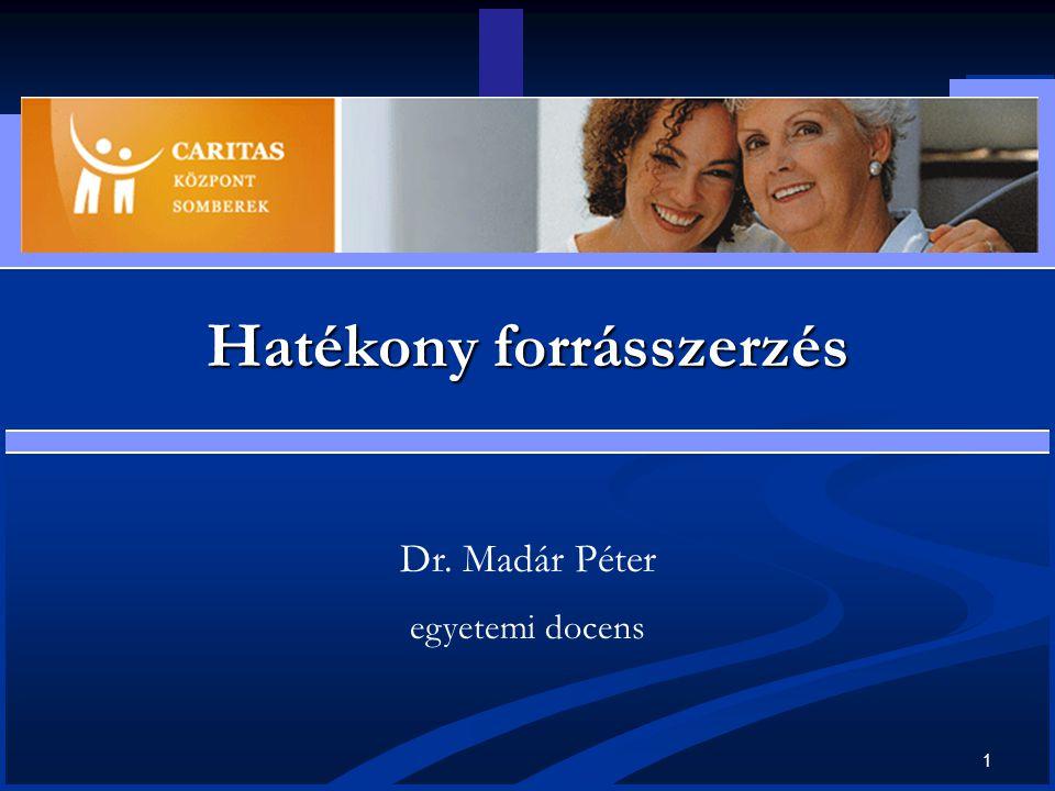 1 Hatékony forrásszerzés Dr. Madár Péter egyetemi docens