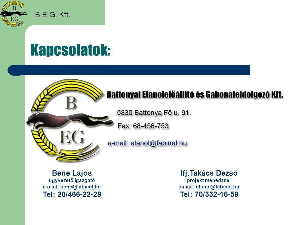 Kapcsolatok: B.E.G. Kft. Bene Lajos ügyvezető igazgató e-mail: bene@fabinet.hubene@fabinet.hu Tel: 20/466-22-28 Ifj.Takács Dezső projekt menedzser e-m