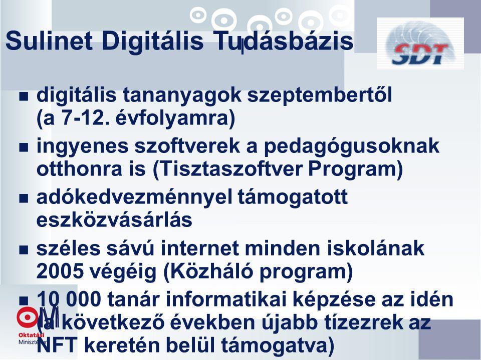 I n digitális tananyagok szeptembertől (a 7-12.