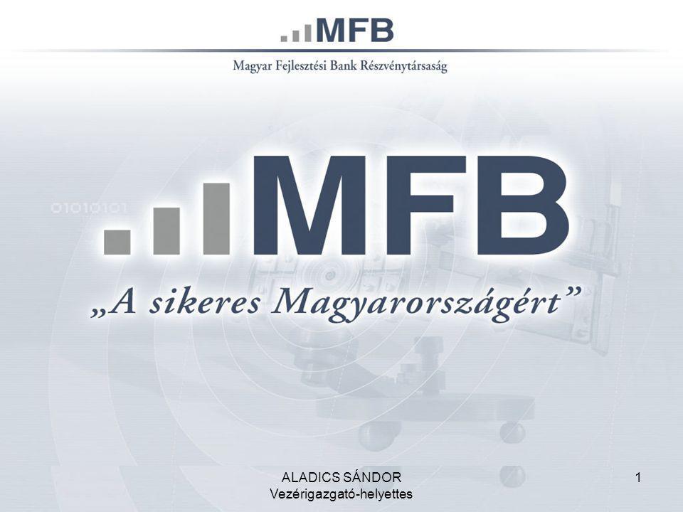 2 Az MFB Rt.tevékenységi főbb területei Magyar Fejlesztési Bank Rt.