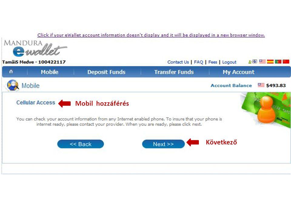 Következő Mobil hozzáférés