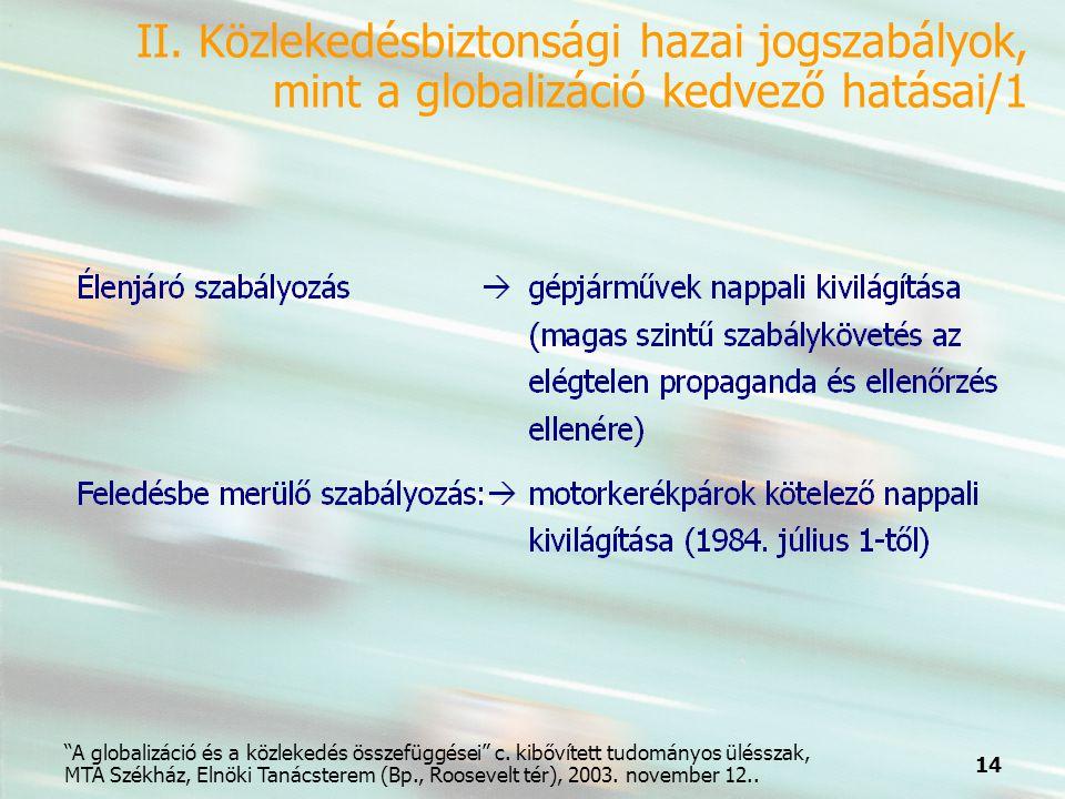 14 A globalizáció és a közlekedés összefüggései c.