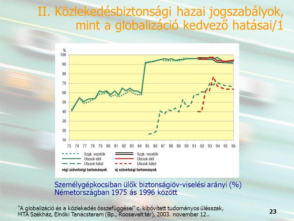 23 A globalizáció és a közlekedés összefüggései c.