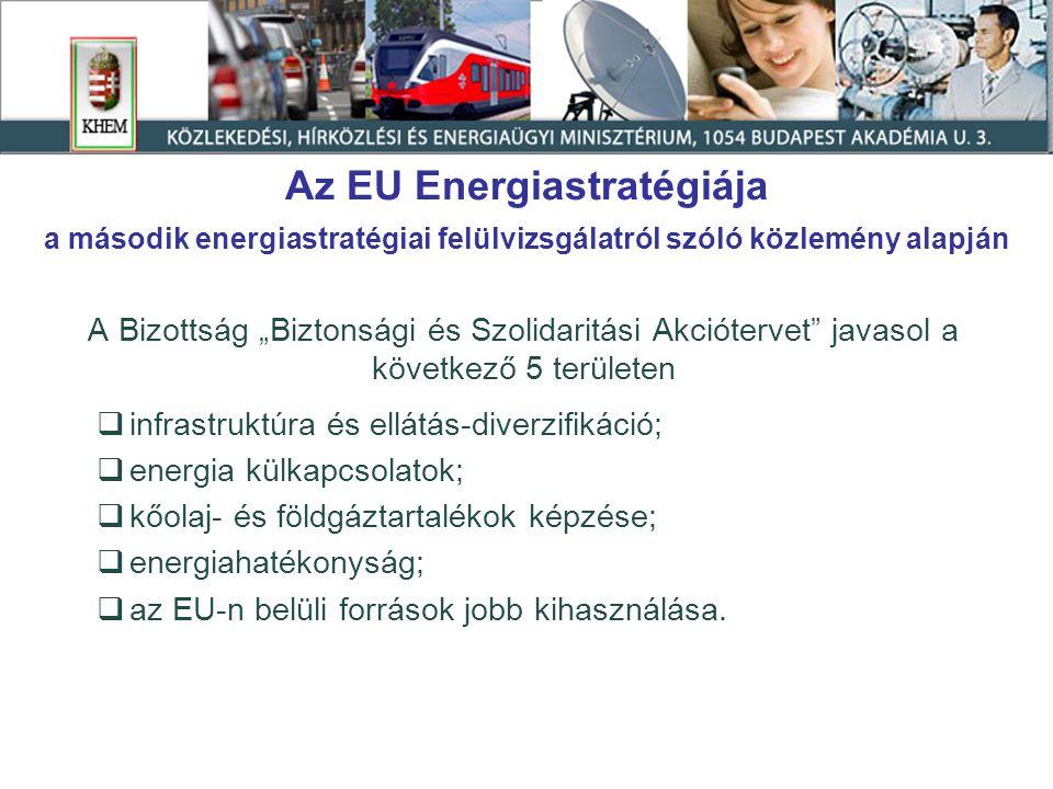 Tartalom I.Az EU energiastratégiája II.A magyar energiapolitika fő kihívásai III.Hazai intézkedések