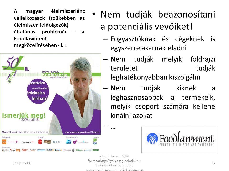 A magyar élelmiszerlánc vállalkozások (szűkebben az élelmiszer-feldolgozók) általános problémái – a Foodlawment megközelítésében - I.