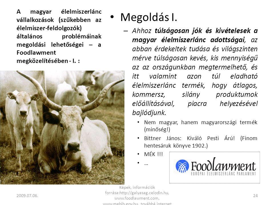A magyar élelmiszerlánc vállalkozások (szűkebben az élelmiszer-feldolgozók) általános problémáinak megoldási lehetőségei – a Foodlawment megközelítésében - I.