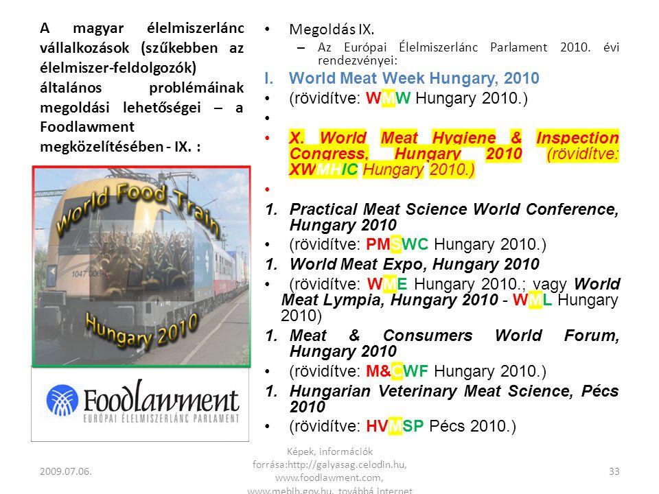 A magyar élelmiszerlánc vállalkozások (szűkebben az élelmiszer-feldolgozók) általános problémáinak megoldási lehetőségei – a Foodlawment megközelítésében - IX.