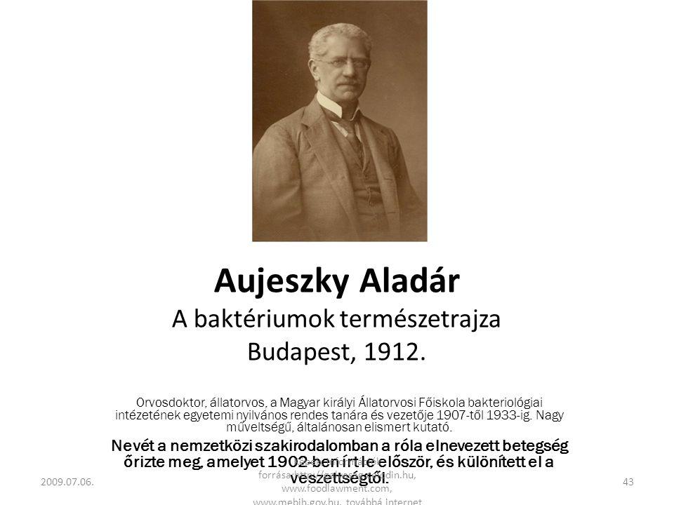 Aujeszky Aladár A baktériumok természetrajza Budapest, 1912.