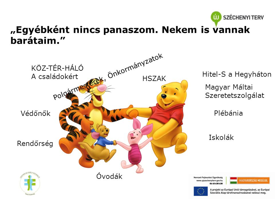 """Hitel-S a Hegyháton Iskolák Óvodák Védőnők HSZAK Polgármesterek, Önkormányzatok Plébánia """"Egyébként nincs panaszom. Nekem is vannak barátaim."""" Rendőrs"""