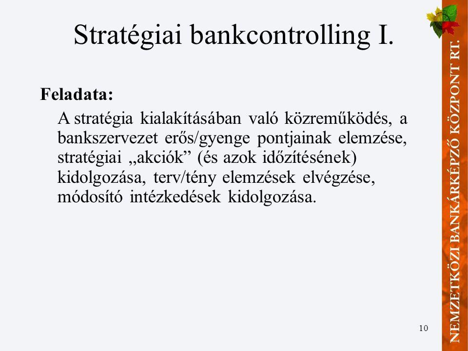 10 Stratégiai bankcontrolling I.