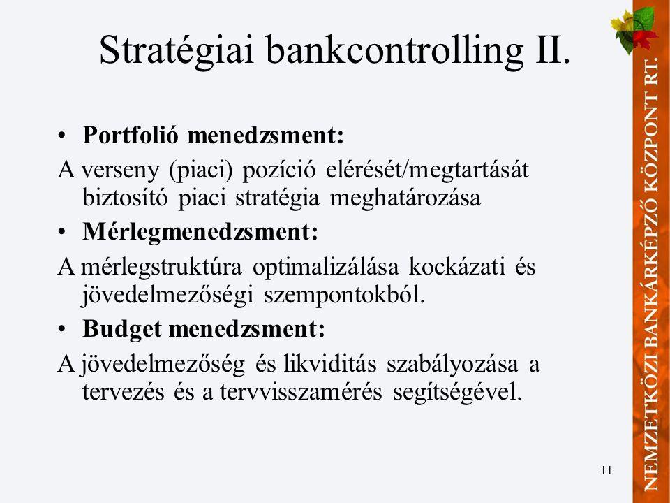 11 Stratégiai bankcontrolling II.