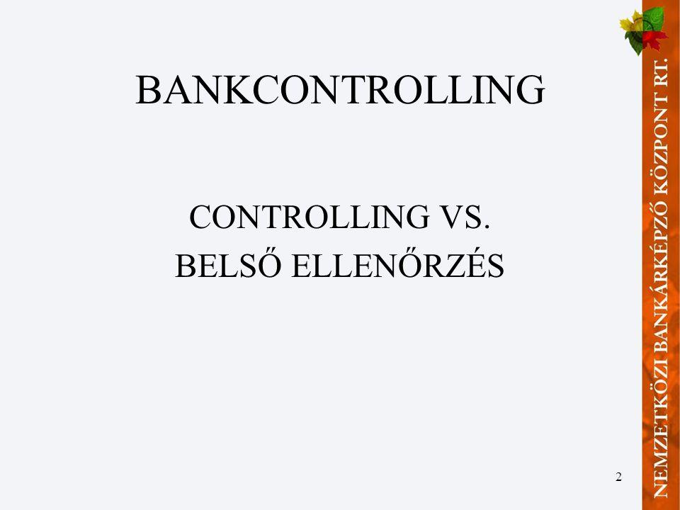 13 Stratégiai bankcontrolling IV.