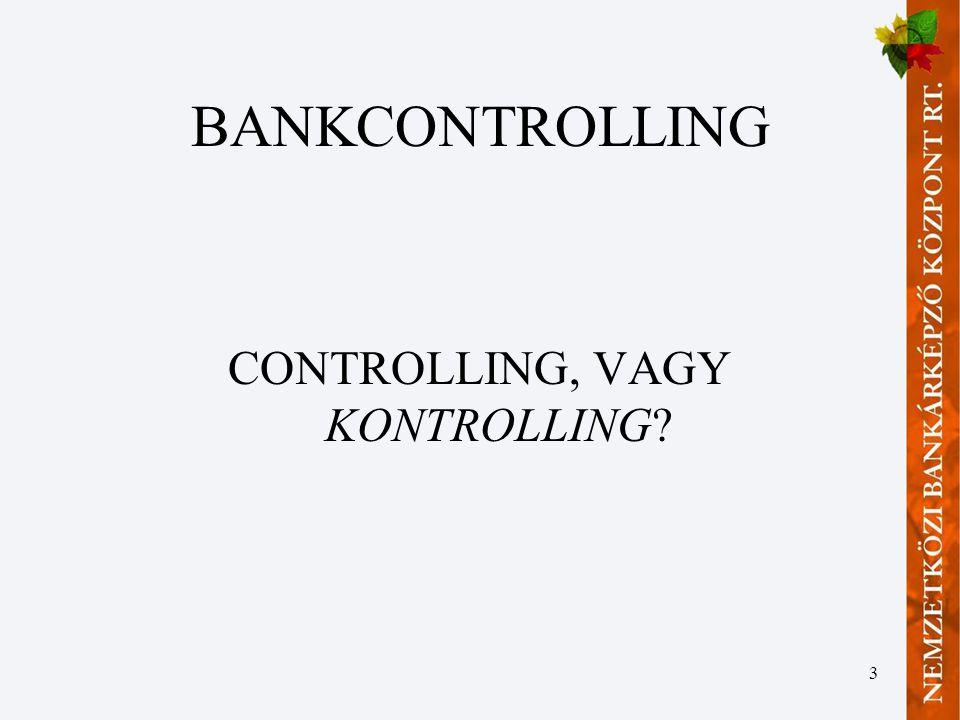 3 BANKCONTROLLING CONTROLLING, VAGY KONTROLLING?