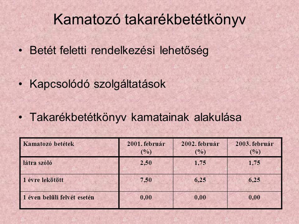 Kamatozó takarékbetétkönyv •Betét feletti rendelkezési lehetőség •Kapcsolódó szolgáltatások •Takarékbetétkönyv kamatainak alakulása Kamatozó betétek20