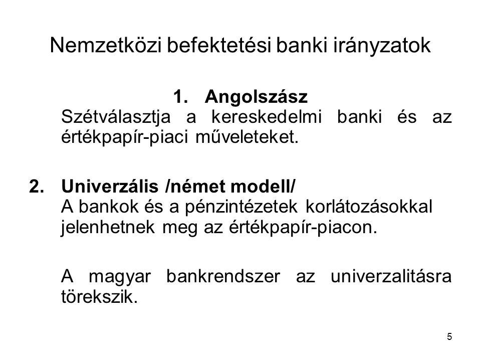 Egy nemzeti fejlesztési bank gazdaságpolitikai indoklása A német Kreditanstalt für Wiederaufbau /KfW/ példája
