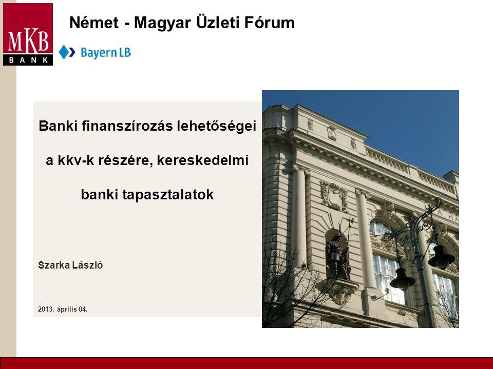 2 Témák  MKB BANK / BAYERN LB  Áttekintés a német – magyar gazdasági kapcsolatokról  Finanszírozási és egyéb külföldi banki szolgáltatás  Nemzetközi faktoring  Bayern desk