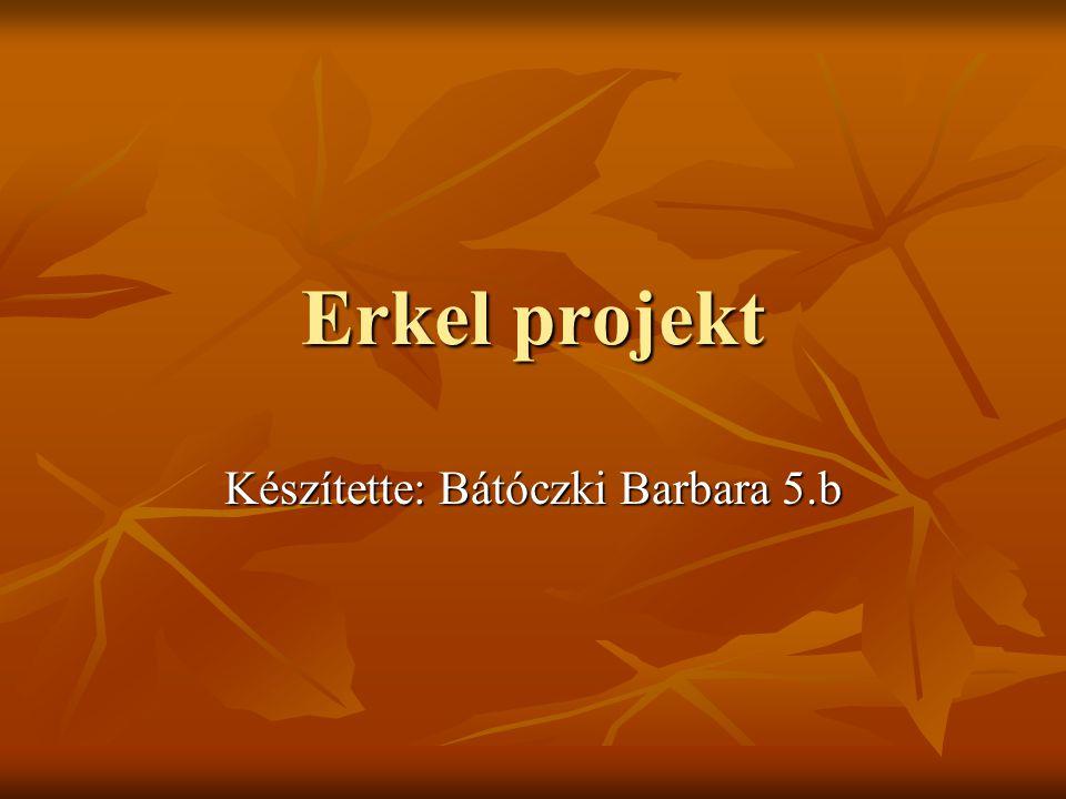 Erkel projekt Készítette: Bátóczki Barbara 5.b