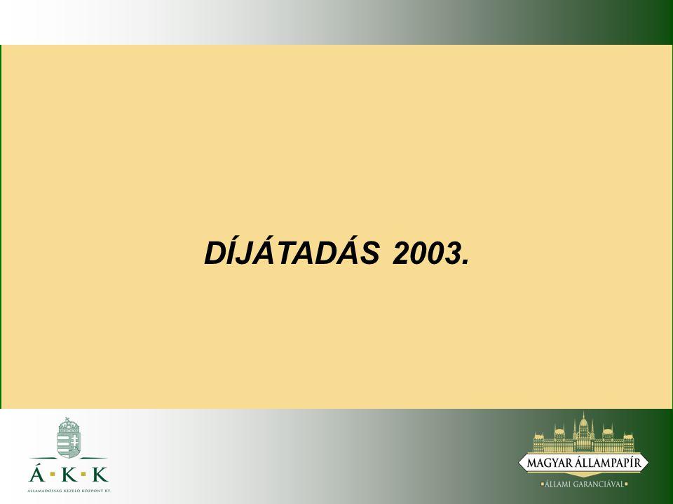 DÍJÁTADÁS 2003.