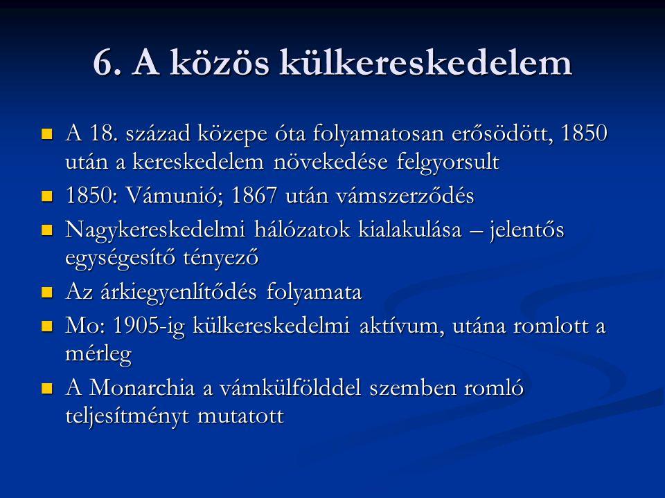6.A közös külkereskedelem  A 18.