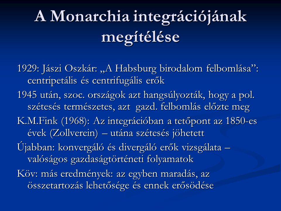 Magyarország helyzete 1850 után  Alárendelt pozíció – katonai megszállás  Osztrák katonai irányítás, 1852 után kemény kormányzati modell  Rendeleti úton való kormányzás; liberális gazdasági utasítások  Világgazdasági konjunktúra – a magyar gazdaság lassan alkalmazkodik  Osztrák tőkebefektetések – gyors ipari és szolgáltatási fejlődés (vasút, bank, ipar)  1859-67: oldottabb rendszer, javuló pozíció