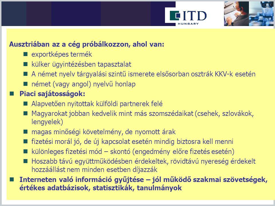 Határon átnyúló szolgáltatásnyújtás  Iparűzési jogosultság bizonyos szakmák esetén megkövetelt  2011 április végéig érzékeny gazdasági ágazatokban magyar munkavállalókkal szembeni munkaerőpiaci korlátozások.