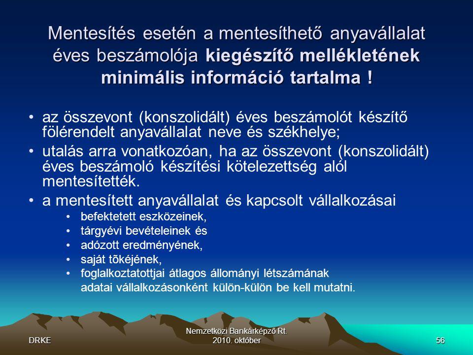 DRKE Nemzetközi Bankárképző Rt.2010.
