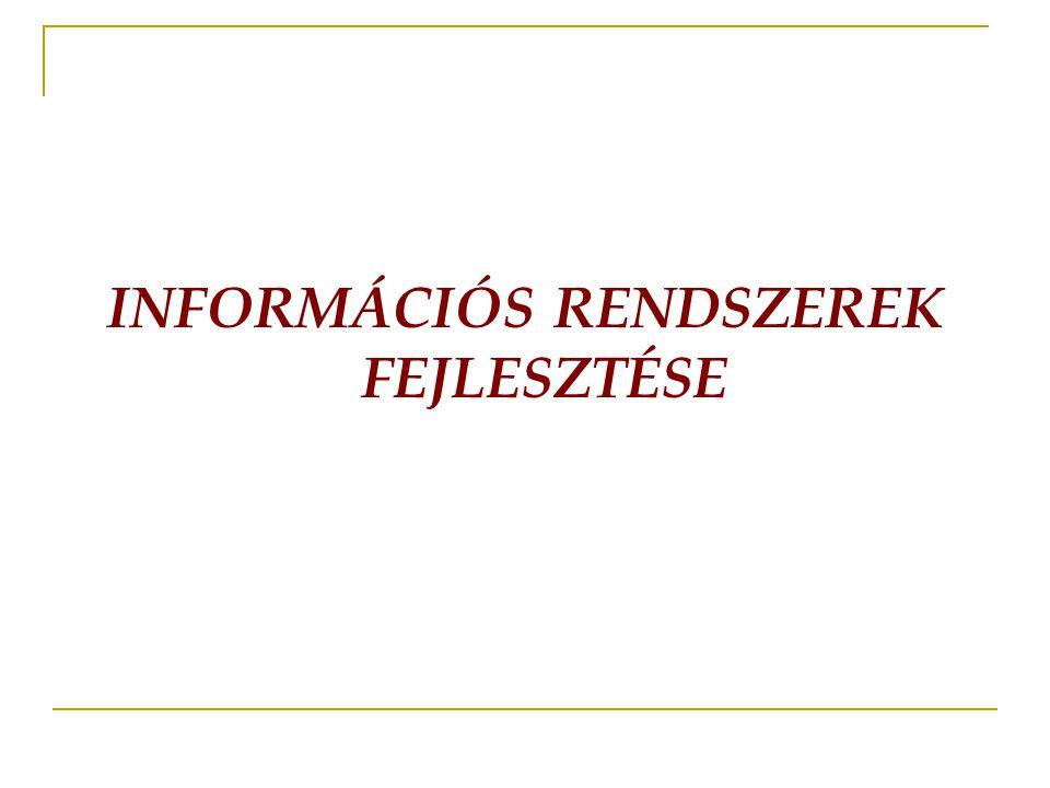 INFORMÁCIÓS RENDSZEREK FEJLESZTÉSE