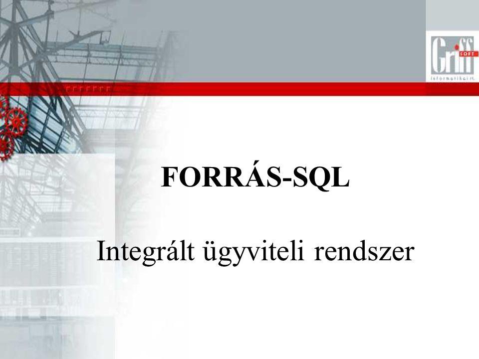 Integrált ügyviteli rendszer FORRÁS-SQL
