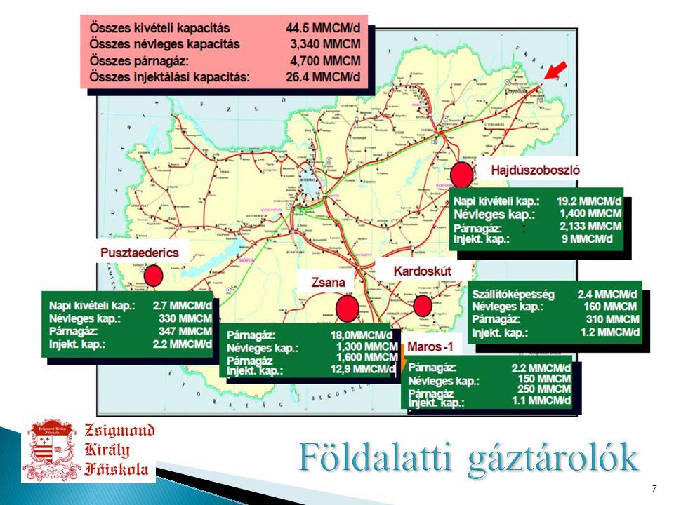18 ● Magyarország speciális földrajzi elhelyezkedése ● Magyarország helyzete az energiaversenyben  Földgáztárolás  Tranzit lehetőségek ● Megújuló energiaforrások ● Atomenergia